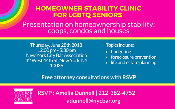 Homeowner Stability Project Clinic for LGBTQ Seniors